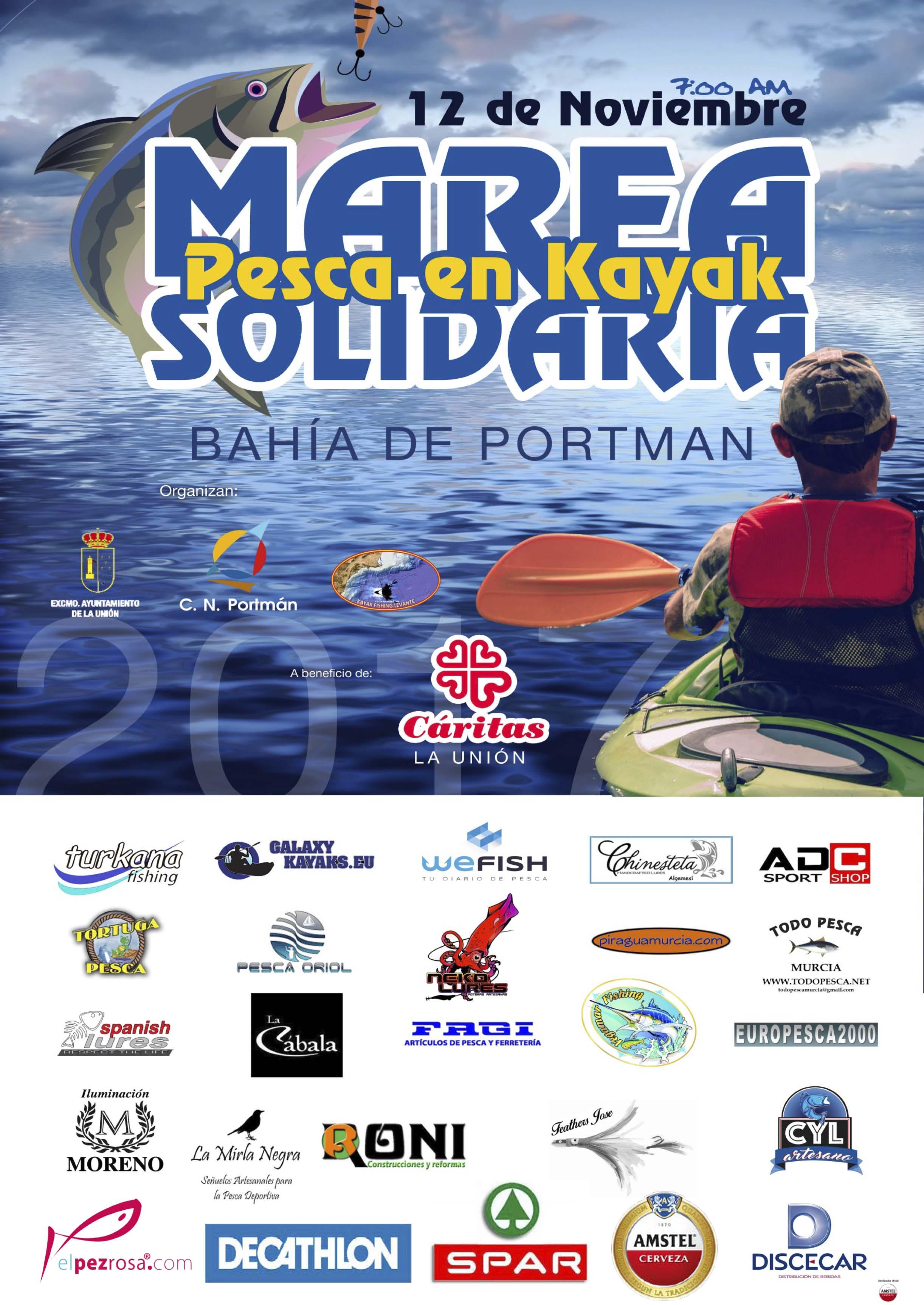 Pesca en kayak. Marea solidaria.